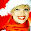 Stock Photo: santas girl