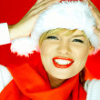 Santas Girl — Stock Photo