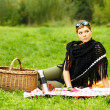 Woman on Picnic - Stock Photo