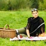Woman on Picnic — Stock Photo #1932566