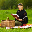 Woman on Picnic — Stock Photo #1932622