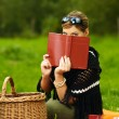 Woman on Picnic — Stock Photo