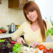Woman in Kitchen — Stock Photo #1933491