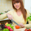 Woman in Kitchen — Stock Photo #1933511
