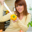 Stock Photo: Woman in Kitchen