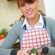 Woman in Kitchen — Stock Photo #1933620