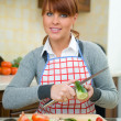 Woman in Kitchen — Stock Photo #1933632