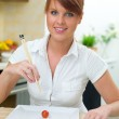 Woman in Kitchen — Stock Photo #1933658