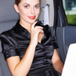 Royalty-Free Stock Photo: Business in Limo