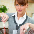 Woman in Kitchen — Stock Photo #1933787