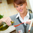 Woman in Kitchen — Stock Photo #1933808