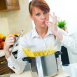 Woman in Kitchen — Stock Photo #1933811