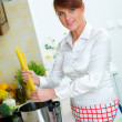 Woman in Kitchen — Stock Photo #1933816