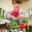 Woman in Kitchen — Stock Photo #1933890