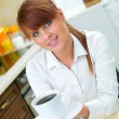 Woman in Kitchen — Stock Photo #1933929