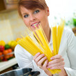 Woman in Kitchen — Stock Photo #1933942
