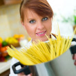 Woman in Kitchen — Stock Photo #1933953
