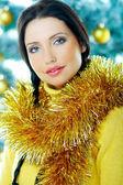 Beautiful Yellow Xmas — Stock Photo