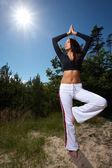 Fitness zeit auf im freien — Stockfoto