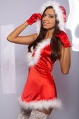 Sexy Santa Woman — Stock Photo