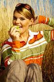 Mujer de negocios al aire libre — Foto de Stock