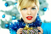 Beautiful Blue Christmas — Stock Photo