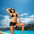 Black Bikini Girl — Stock Photo #1945119