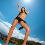 Schwarzer Bikini Mädchen — Stockfoto #1945154