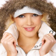 Fur hood — Stock Photo