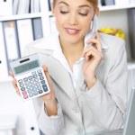 iş kadını ofiste — Stok fotoğraf