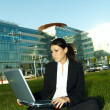Stock Photo: Business Outdoors