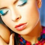 Blue Makeup — Stock Photo