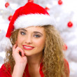 Christmas Blond Chick - Stock Photo
