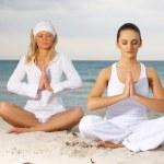 Yoga at Caribbean — Stock Photo #1958486
