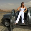 Stock Photo: Girl and Car