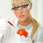 Female in lab — Stock Photo