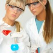 Female in lab - Stock Photo