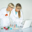 Female in lab — Stock Photo #1958830