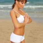 Fitness på stranden — Stockfoto