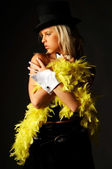 Yellow feathers — Stock Photo
