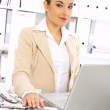 Business Woman in Office — Stock Photo #1960262