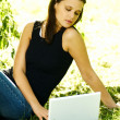 Woman with laptop — Stock Photo #1960347