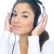 Girl with headphones — Stock Photo #1960393