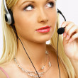 Business Woman with Headset working as call center agent — Stock Photo #1960933