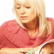 Women reading  magazine — Stock Photo