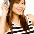 Listening to the music - Stock Photo