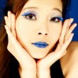 Blue Lips — Stock Photo