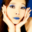 Stock Photo: Blue Lips