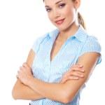 Blond Businesswoman — Stock Photo
