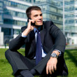 Outdoor Businessman — Stock Photo #1963580